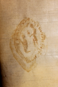 Seal matrix impression, Smith MS 240. The murder of Thomas Becket, perhaps? Anyone have any suggestions?