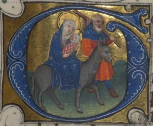 The Flight into Egypt, Walters Art Museum, MS W.188, f.112r