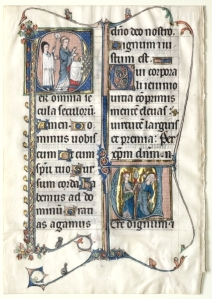 Beauvais Missal leaf at the Cleveland Museum of Art (acc. 1982.141)
