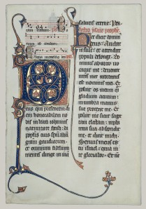 Beauvais Missal leaf from the Metropolitan Museum of Art, New York City