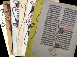 Various Beauvais Missal leaves from various collections; note the varying image quality, a definite barrier to inter-institutional collaboration.