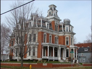 The Ficke Mansion, Davenport, built in 1881 and currently a sorority house (1208 North Main St.).