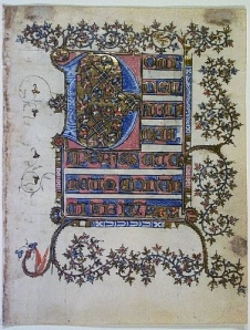 Leaf from a Book of Hours (Soissons, ca. 1400) (Grinnell College Art Collection, Acq. 1987.57)