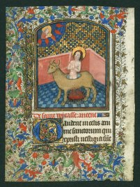 Martyrdom of St. Eustace from a late fifteenth-century Book of Hours (Univ. of Colorado at Boulder, MS 315 verso)