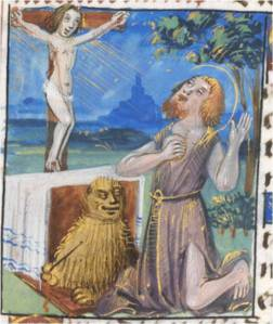 St. Jerome in the Desert (Utah State University, De Villers Hours, p. 132)