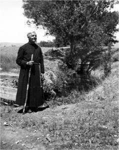 Brother David at Lake Pyramid, Nevada (photo courtesy of Special Collections, University of Nevada-Reno)
