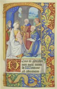The Adoration of the Magi (N. France, ca. 1525) (Mt. Angel Abbey, MS0029, f. 60)
