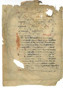 California Baptist College, Annie Gabriel Library, P. Boyd Smith Hymnology Collectin: S. N. Missale, cum neumis (Cyriaci, Largi, Smaragdi-vig. Laurentii). Saec. XII in