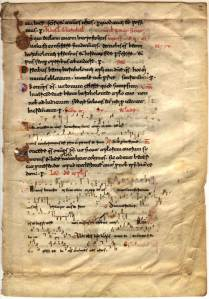 Beneventan leaf, s. XI (Baylor University, Crouch Fine Arts Library, Jennings Manuscript 2)
