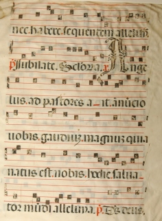 Shawnee, Mabee Gerrer Museum, Medieval Music leaf.
