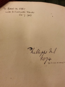 Univ. of Wisconsin, Special Collections, MS 162 (flyleaf)