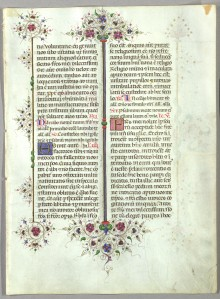 The Llangattock Breviary (St. Louis, Saint Louis University, Pius XII Memorial Library, Special Collections,  VFL MS 2r)
