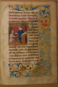 f. 10a, recto: The Passion according to St. Matthew, from a mid-15th-century Book of Hours