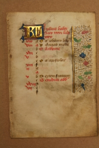 Calendar leaf from a late-15th-century French book of hours