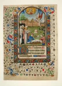 French; Latin text LEAF FROM A BOOK OF HOURS, SERVICE FOR THE DEAD, ca. 1450 Ink and gilt Memphis Brooks Museum of Art, Memphis TN; Brooks Memorial Art Gallery Purchase 56.27