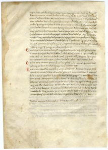 Livy, History of Rome, explicit with colophon and date (Rhodes College, Ege Famous Books, Leaf 3v)