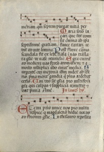 Hymnal, Feast of Mary Magdalene, Italy, s. XIV (Tulane University, Howard Tilton Memorial Library, s.n.)