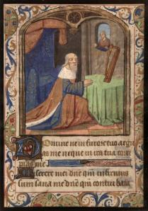 David at Prayer (Museum of Fine Arts, St. Petersburg, Florida, Gift of Lothar and Mildred Uhl, Acq. 2002.20 recto)