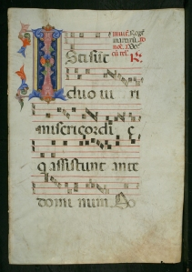 Antiphonal, Italy, s. XV (Museum of Fine Arts, St. Petersburg, Florida, Gift of Lothar and Mildred Uhl, Acq. 2007.12.4 recto)