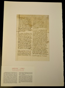 Aristotle, Nichomachean Ethics, manuscript on paper (Germany, 1365)