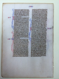 Bible (France, s. XIII)(Kennesaw University, Manuscript 4v)