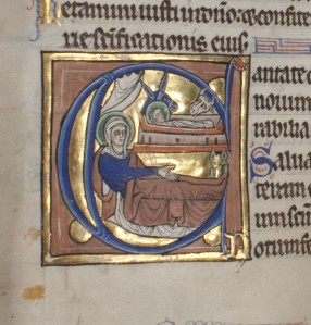 Psalter, Use of St-Denis (Paris, s. XIII 1/2) (UNC, Chapel Hill, MS 11, f. 96v)