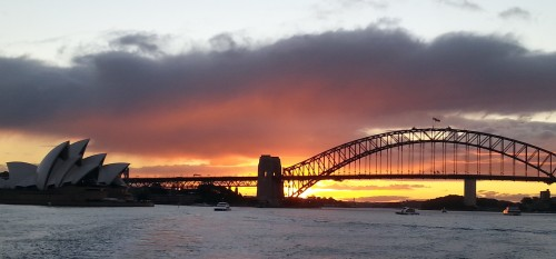 Sydney Harbor at sunset (photo by me)