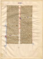 Original Leaves from Famous Books: Eight Centuries, Leaf 1 (Bible) (State Library of Brisbane, RB 686.23 19-- )