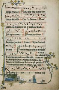 Antiphonal (fragment), England, early 14th century  (Geelong Church of England Grammar School, Corio, Victoria)