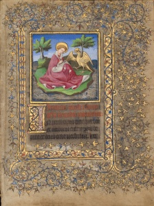 St. John at Patmos (Univ. of Melbourne, Special Collections, UniM Bail SpC/ RB 61AA/ 3)