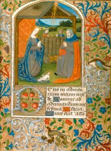 The Nativity, Book of Hours (Rouen, ca. 1480) (Chrysler Museum 2014.236, Given by the Irene Leache Memorial Foundation, to honor the memory of Alice Rice Jaffé, 1992)