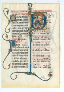 Beauvais Missal, Feast of John the Baptist (Hollins University, Spec. Coll., MS 5, no. 2v)