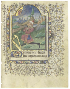 King David at Prayer (Penitential Psalms, Georgetown Univ. MS 11, p. 179)