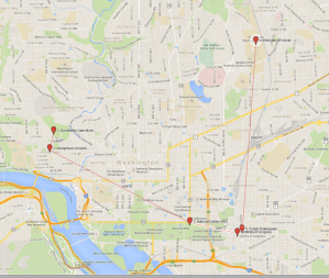 Just a few of the place where you'll find medieval manuscripts in the District of Columbia.