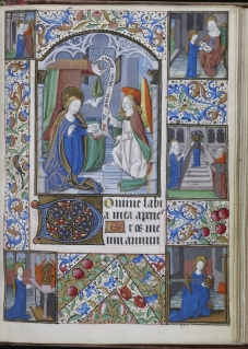 The Annunciation with Scenes from the Life of the Virgin (WAM W.249, f. 37) (Troyes, ca. 1470)