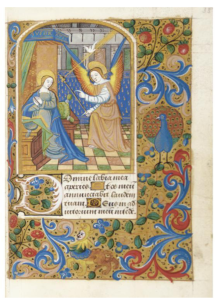 Annunciation (Amiens, ca. 1500) (U. Delaware, Special Collections, MSS 095 no. 31)