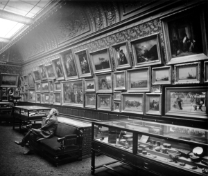 "William T. Walters in his ""Picture Gallery,"" 1884"