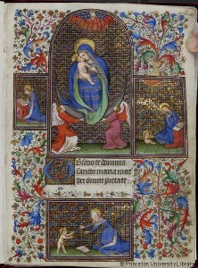 Book of Hours, Use of Paris, ca. 1420–1430, France (Paris) (Garrett MS. 48, f. 1) (Manuscripts Division, Department of Rare Books and Special Collections, Princeton University Library)