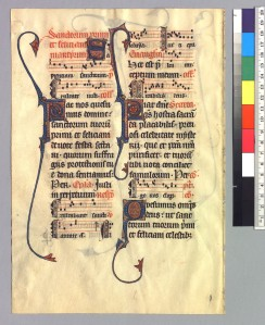 Beauvais Missal (Rutgers Univ., Special Collections, ND3375.F889, verso)