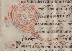 The Gottschalk Antiphonal (BRBL MS 481.51 8r, detail)