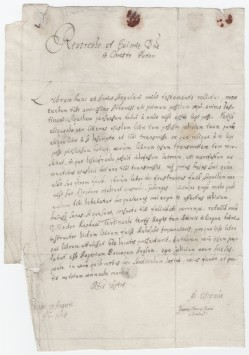 [Autograph letter signed] 1666 [or 1665?] August 19, Prague [to Athanasius Kircher, Rome]