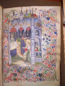 Mass of St. Gregory (BPL MS q. Med. 81, f. 143 r, slightly later addition)