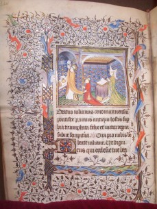 The Mass of St. Julian of Le Mans (BPL MS q. Med. 81, f. 136v)