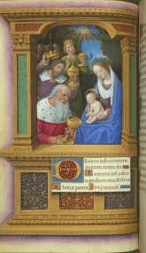 The Adoration of the Magi (ISGM 6.T.1, Book of Hours, ca. 1515, p. 71)
