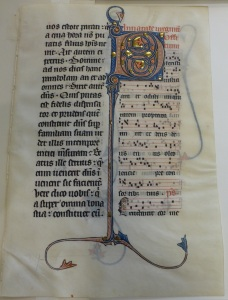 Beauvais Missal leaf (Rhode Island School of  Design, MS 43.436 recto) (photo by Peter Kidd)