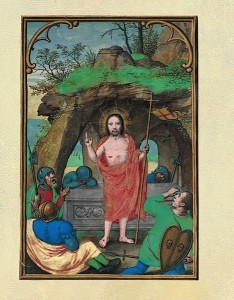 The Resurrection, Simon Bening (BPL MS pb. Med. 35, f. 10v)