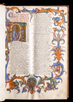 Dante Aligheiri, La chomedia di Dante Alighieri da Firenze, around 1410-1420, f.7 (Isabella Stewart Gardner Museum, Boston)