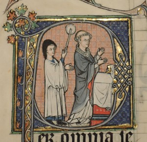 Priest saying Mass (Cleveland Museum of Art, ACC. 1982.141 verso, detail)
