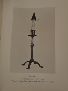 Otto F. Ege's Rowfant Club candlestick, as reproduced in the Club's Candlestick Book.