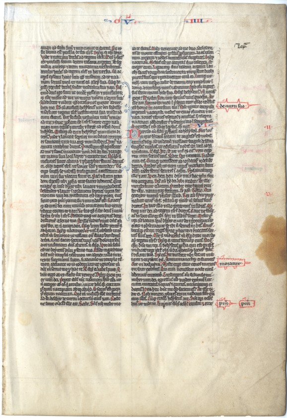 Leaf from the Chundleigh Bible (side 1)